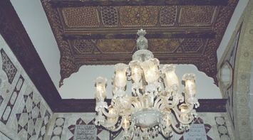 title: Chandelier and Ceiling Detail at the Palace