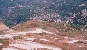 title: Cool Paragliding Views of Land Below in Lebanon
