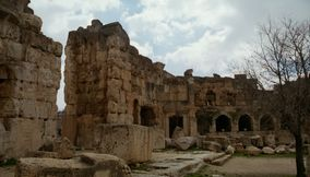 title: Court of Baalbek Temple Complex Ruins