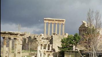 Dark Clouds About to Rain Over Baalbeck