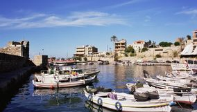 title: Fishing boats Byblos Jbeil Lebanon