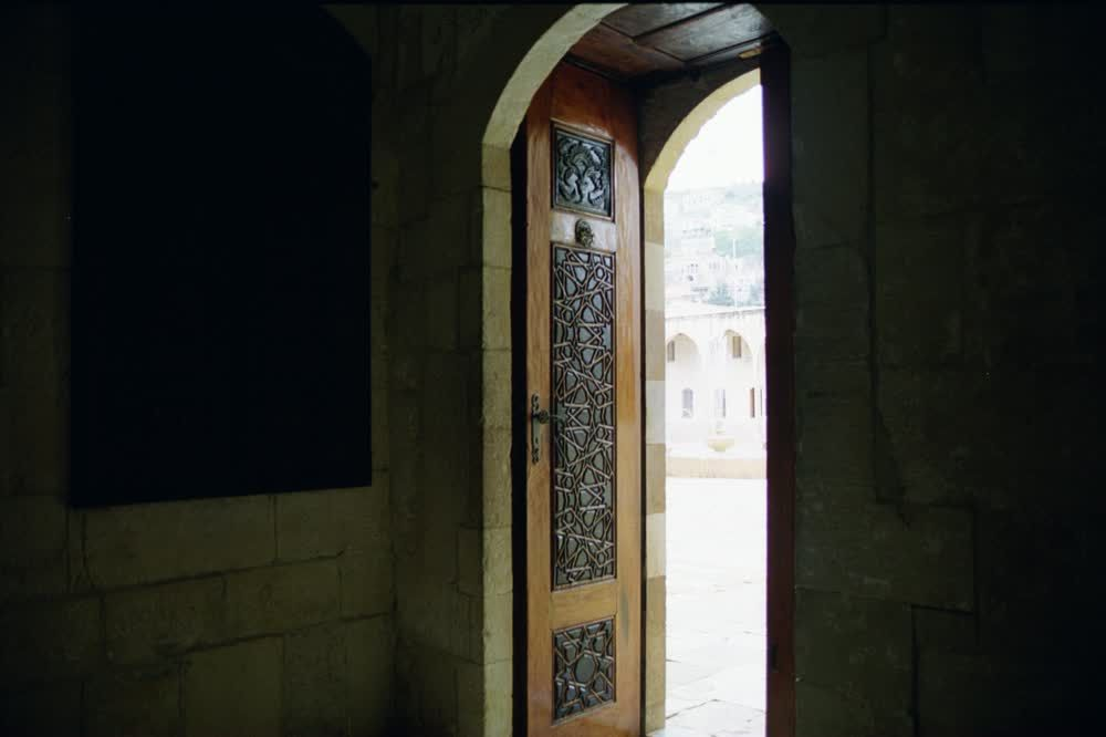 title: Lovely Ornate Wooden Door of Beiteddine Palace