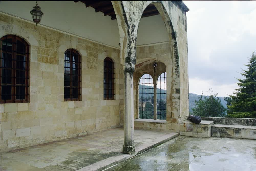 title: Old Historic Palace of Beiteddine in the Rain