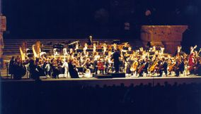 title: Orchestra Playing in the Evening on the Roman Site