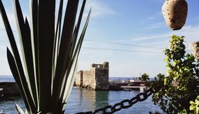 Panoramic view at Byblos Jbeil Lebanon