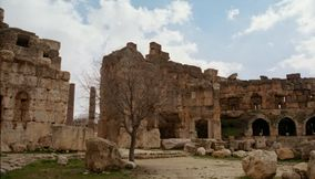 Picturesque Ancient Roman Ruins of Baalbek in Bekaa