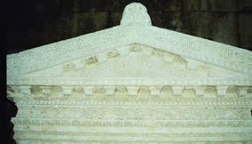 Roof of Entrance Facade of Door or Temple
