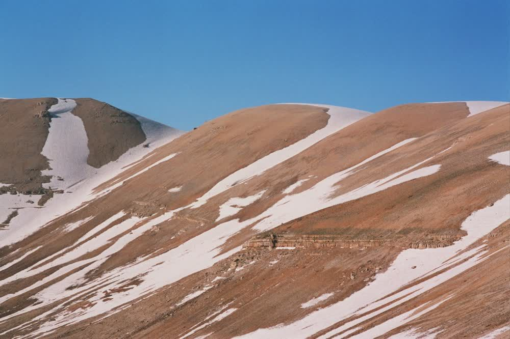 title: Sandy Snowy Hills on the Mountain of the Cedars
