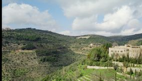 title: Scenery from the Beiteddine Palace of Nearby Village and Greenery