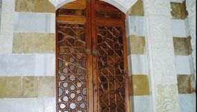 Tall Ornate Wooden Carved Closet at the Palace