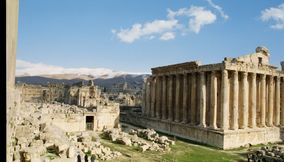 The Glorious Bacchus Temple of the Bekaa Valley in Baalbeck Complex