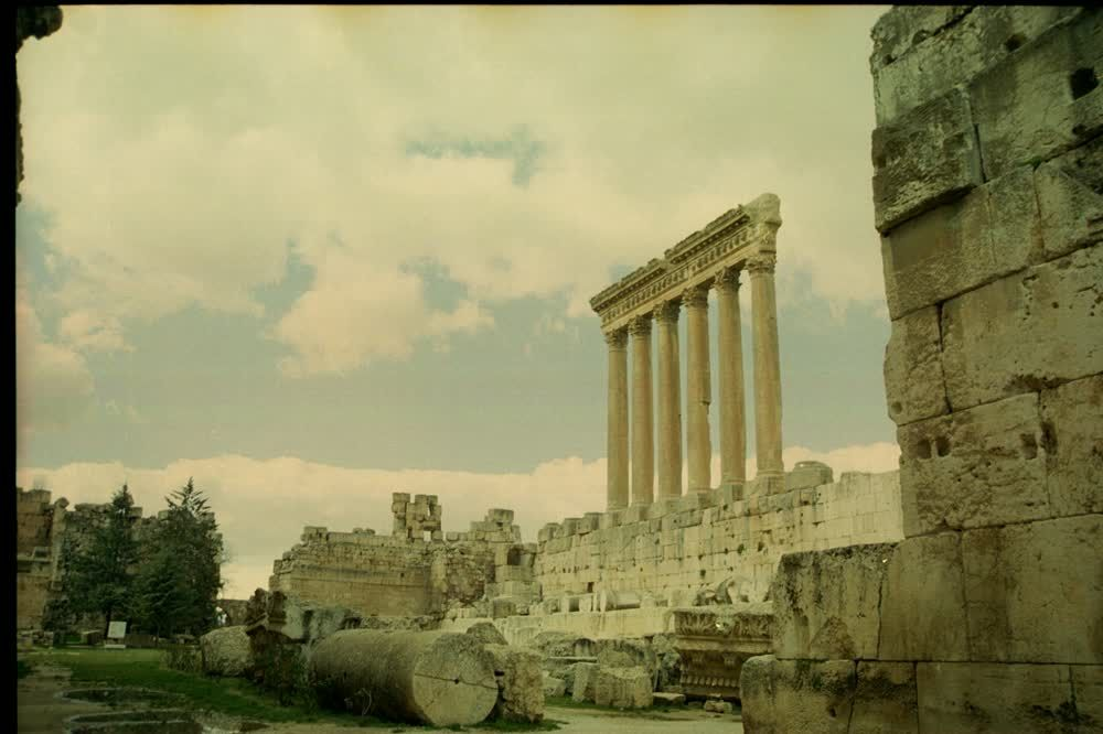 title: The Grand Preserved Jupiter Temple of Baalbeck