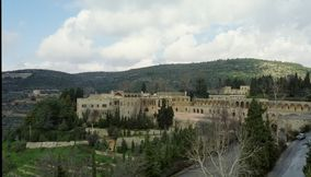 title: The Huge Beiteddine Palace from a Rooftop