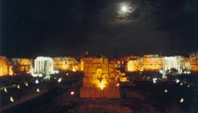 The Moon in the Lovely Evening in Baalbeck