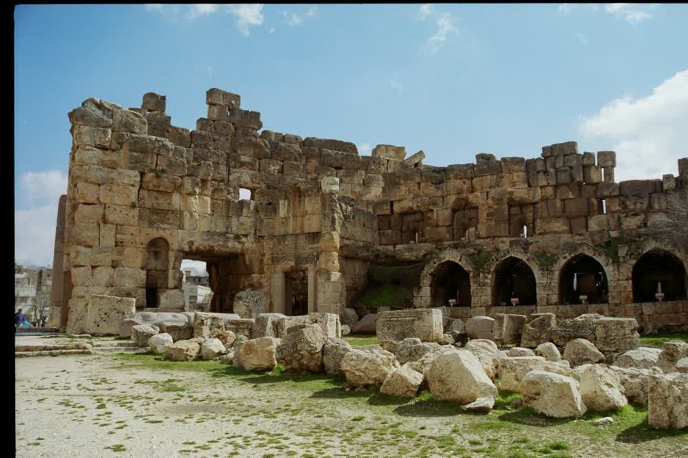 title: The Old Age Roman Settlement Ruins of Baalbeck