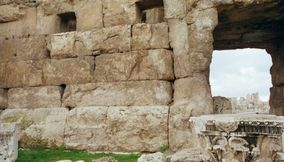 title: The Roman Site Ruins of Lebanon in Bekaa Valley