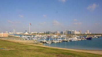 title: Boats and Yachts Parked on the Abu Dhabi Marina