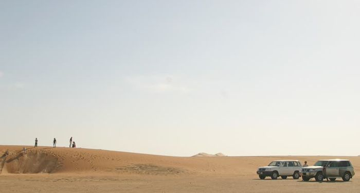 title: Cars in the Desert