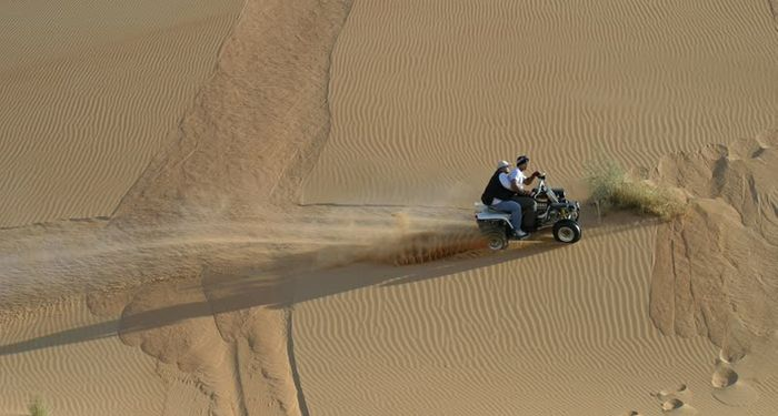 title: Riding the ATV in the desert