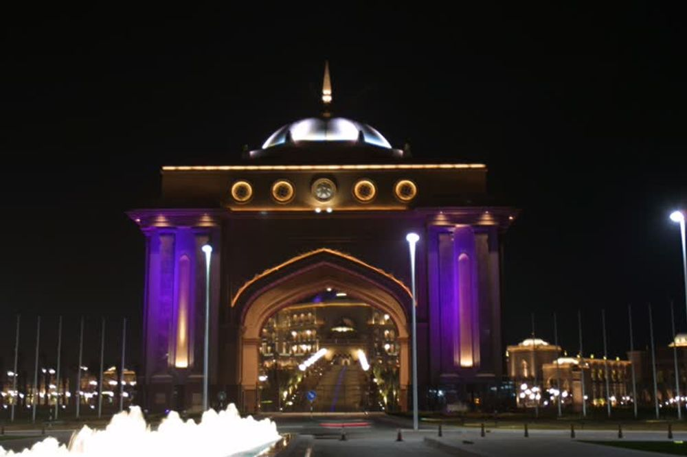 title: Purple Lights of the Emirates Palace