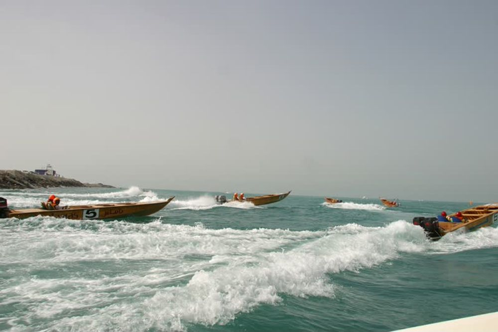 title: Racing in Boats on the Sea