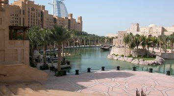 title: The Stunning Scenery of Fort Island at Madinat Jumeirah in Dubai