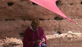 title: Morocco red hat Rabat Chellah Necropolis