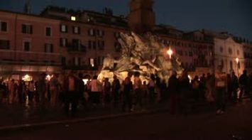 title: Piazza Navona in the evening