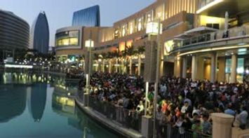 title: Crowds Awaiting the Amazing Fountain Show Video