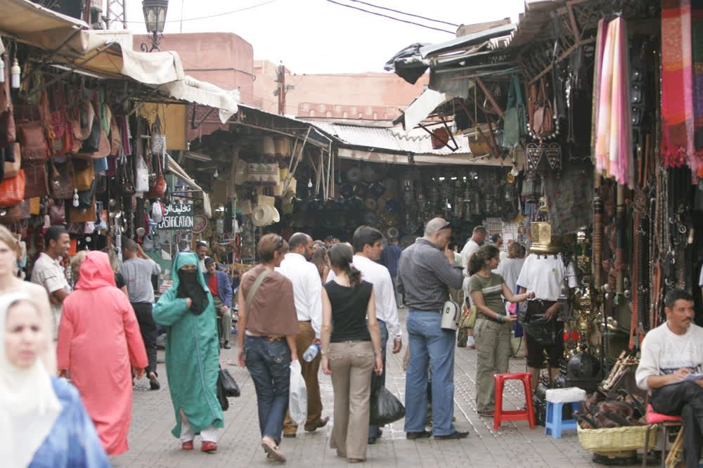 title: Bargains and Shopping in the Old Souk of Marrakesh