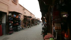 title: Clothing Bags and other Fashionable Items for Sale in the Old Souks