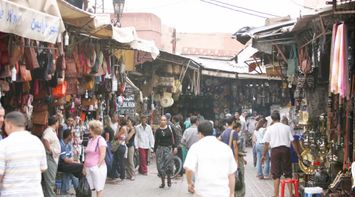 Crowds Shopping at the Souk