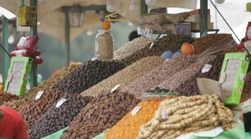 Dried Fruits and Nuts for Sale at Market Souks