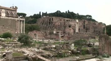 title: Ancient Rome next to the Colosseo Colosseum  Le Colisee