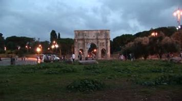 title: Arco di Costantino sunset Arch of Constantine  L Arc de Constantin