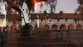 Historic monastery and church of Santa Barbara California