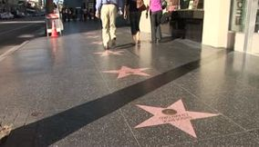 LA Hollywood Blvd hanging out walk of fame