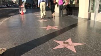title: LA Hollywood Blvd hanging out walk of fame