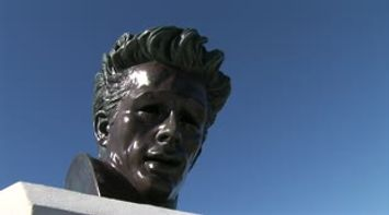 Los Angeles Griffith observatory James Dean statue Hollywood sign LA city landscape