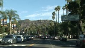 title: Los Angeles highway direction downtown Hollywood