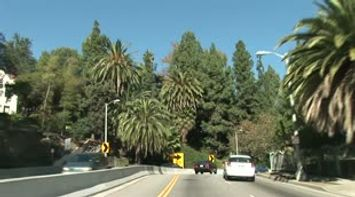title: Los Angeles Franklin street and Griffith Park California USA