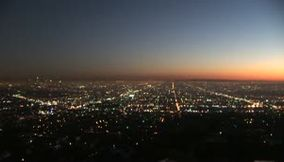 Los Angeles Griffith observatory night scene California USA