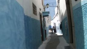 Rabat blue narrow passages at Rabat