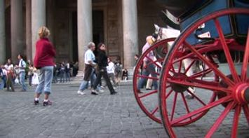 title: Rome Pantheon tourists