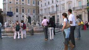 title: Rome tourists Piazza Navona