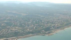 Taking off from Beirut Airport