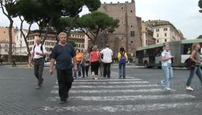 Walking in the ancient city of Rome