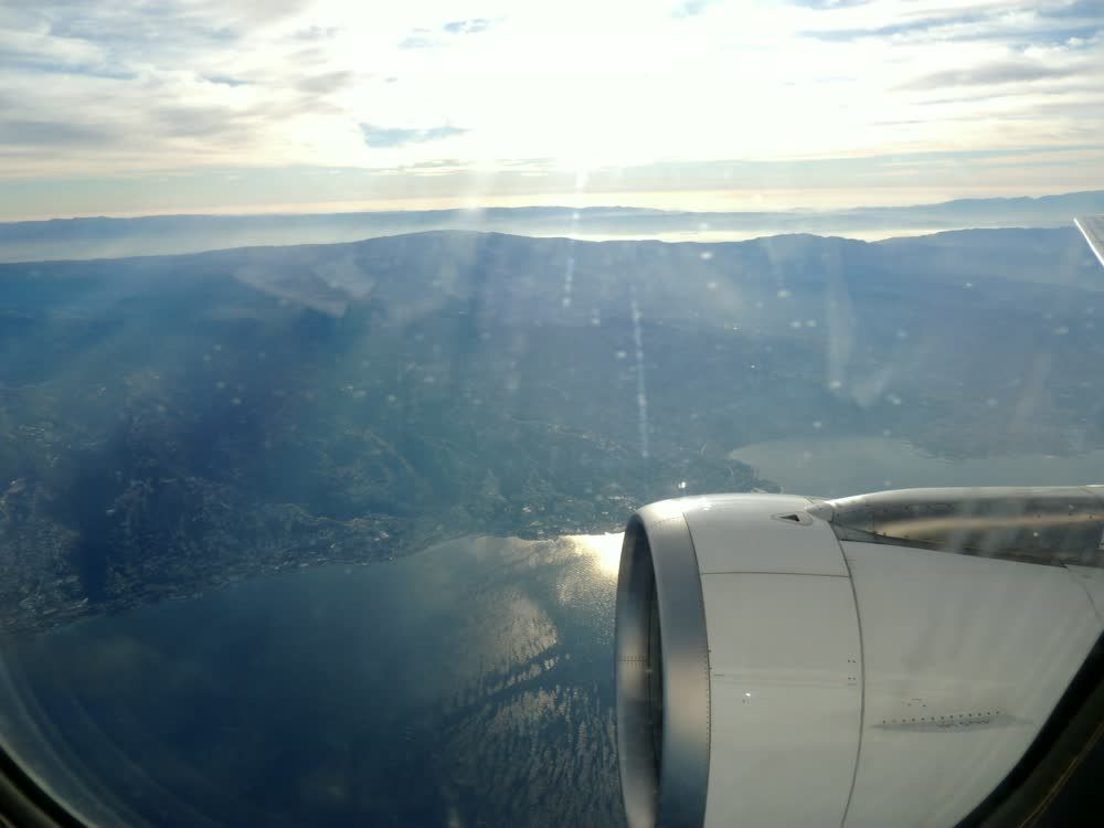 title: Airplane Wing from Window