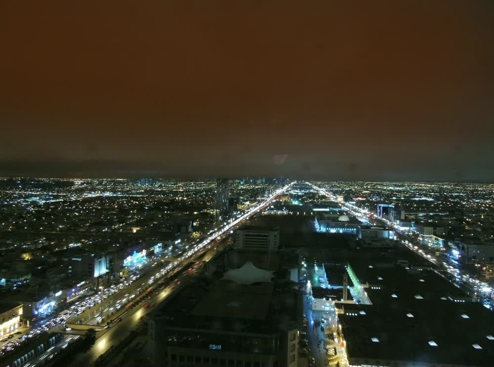 title: Night Time View of the City of Riyadh
