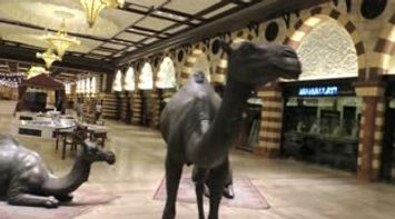 title: Camel Statues at the Dubai Mall Video